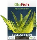 GloFish Plant Aquarium Decor Yellow Fern Aqua heavy weighted decor