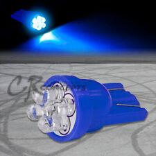 BLUE LED T10 194 168 501 W5W 4 X 3MM INTERIOR ROOF DOME WEDGE LIGHT BULB/BULBS