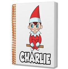 A5 Personalised Notebook Notepad Birthday Christmas Gift Boys Girls RED ELF