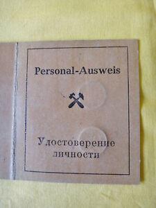 Personalausweis A.G. Wismut mit Lichtbild, sehr selten !!!!!