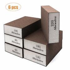 Wellgo 6 Pack Sanding Sponges,Coarse & Fine Sanding Blocks in 60/80/100/120/180/