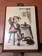 Hummel Print on Wood Ars Edition 1981 Vintage