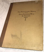 The Photographic History Of The Great European War In Gravure Large Rare Book!