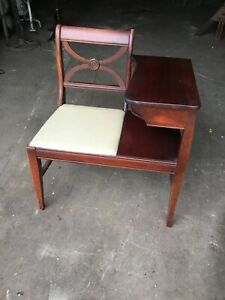 """VINTAGE GOSSIP BENCH """"AKA"""" TELEPHONE TABLE Decent Used Condition"""