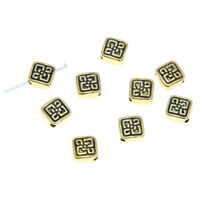 20pcs/lot Square Spacer Beads Gold tone Square Metal Spacer beads pendant 6.5mm
