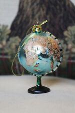 Glass Christmas Tree Globe Bauble Decoration - World Traveler Present