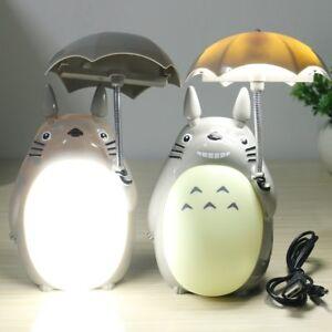 Totoro Lamp USB Kawaii Cartoon My Neighbor LED Night Light Reading Home Decor