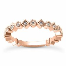 14 KT ROSE GOLD STACKABLE WEDDING BAND WITH 0.21 CARAT DIAMONDS