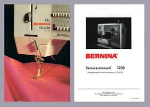 BERNINA 1230 Choice of Instruction or Service manual on CD / PDF or Download
