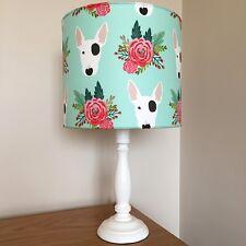 English Bull Terrier Dog Print Fabric Lamp