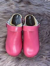 Hannah Anderson Pink Wooden Clogs, Girl's size 33