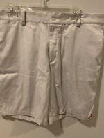 EUC Mens Alabama Crimson Tide Nike Performance Golf Khaki Shorts Size 38