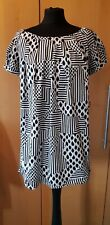 Cute Dorothy Perkins Tunic Dress Size 10 black & White NEW