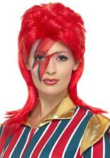 1970s Glam Rock David Bowie Red Ginger Spiked Punk Rocker Music Fancy Dress Wig