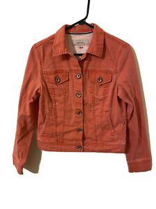 Merona Distressed Women's Small  Jean Jacket Cropped Trucker Light Medium Wash