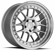 One 18x8.5 Aodhan DS06 5x114.3 +35 Silver w/Machined Face Wheel