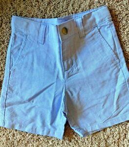 Janie and Jack Blue Shorts 100% cotton shorts Khakis Size 4 NEW