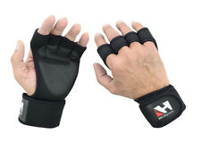 GYM GLOVES WEIGHT LIFTING FITNESS BODYBUILDING TRAINING CROSSFIT LEATHER GLOVES