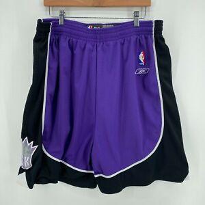 Reebok Basketball Shorts Men's 2XL Purple Sacramento Kings NBA Retro 00's