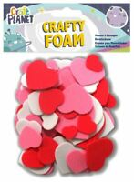 Crafty Foam Heart Shapes - Red White & Pink - Card Making Embellishments - UK