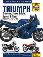 Triumph Motorcycle Manuals and Literature 1997 Year of Publication Repair