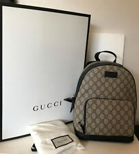 NEW ARRIVAL! GUCCI GG SUPREME BEIGE BROWN EBONY SMALL CANVAS BACKPACK SALE