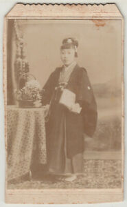 Antique Photo / Young Woman in Hakama / Japanese / c. 1910