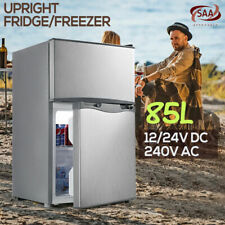 85/116L Portable Bar Fridge Freezer Cooler 12V/24V/240V Camping Caravan Home New