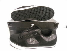 DC PURE SLIM XE LOW SKATE SNEAKERS MEN SHOES BLACK/GRAY 301849 SIZE 8 NEW