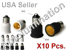 10 Pcs E14 Lamp To E12 Socket Bulbs Adapter Holder Converter Candelabra Base