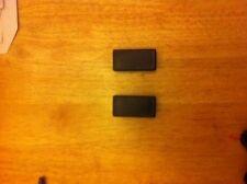 2 De 50 X 25 Mm Cuadrada fuera de la dimensión tapas de extremo plástico Para Tubo De Metal