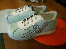 Scarpe shoes  bambina CHICCO NR. 22 primavera azzurre pelle NUOVE!