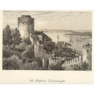 J.D. WOODWARD: The Bosphore, Constantinople - Appleton, NY 1880's - Cert: p5