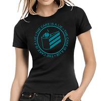 The Cake is a Lie Portal Glados Geek Gamer Nerd Comedy Spaß Damen Girlie T-Shirt