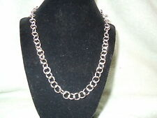 """NEW 21"""" PURE SILVER .999 BULLION 1.25OZ NECKLACE HAND MADE BY ANARCHY JEWELRY #A"""