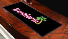 Benidorm Palm Tree Black Bar Towel Runner Pub Mat Beer Cocktail Party Gift