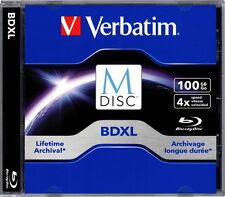 1 Verbatim Rohling M-Disc Blu-ray BD-R XL 100GB 4x Jewelcase