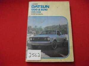 1971-1978 DATSUN 1200 & B210 CLYMER SHOP MANUAL T/S, MAINTENANCE, REPAIRS VGCFA