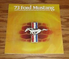 1973 Ford Mustang Sales Brochure 73 Mach 1 Grande Convertible