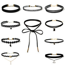10 Piece Choker Necklace Classic Velvet Lace Punk Gothic Tattoo Necklace Jewelry