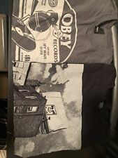 Lot Of 2 OBEY PROPAGANDA Men's Shirts Graphic T Shirts Skater Art Logo Large L