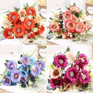 Artificial Silk Peony Flower Branch Fake Floral Home Wedding Bouquet Decoration