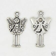10 x Tibetan Silver Fairy Angel Girl Pendant Charms