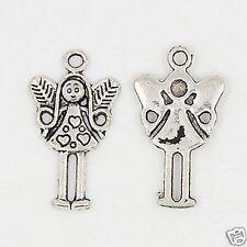10 X hadas de plata tibetana Angel chica encantos colgante