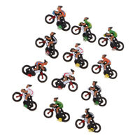 12x 1:87 HO Scale Plastic Cyclist Rider Model Miniature Scenery Sand Layout