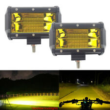 1Pair 5'' 72W LED Car SUV Work Light Bar Flood Driving Lamp Fog Light Front Bulb