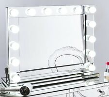Hollywood Style Professional Vanity Make Up Mirrors XL Dimmable Bulbs + USB LED