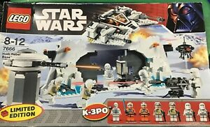 LEGO CLASSIC STAR WARS HOTH REBEL BASE (7666), NEW IN FSB FEATURES 548 PIECES
