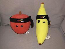 Fruit Ninja, Stuffed Plush Toy Set, Strawberry/Apple Banana