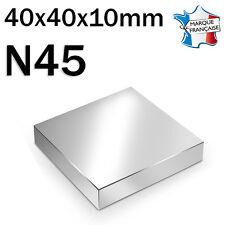 SUPER AIMANT MAGNET NEODYM N45 - 40x40x10mm - 100Kg